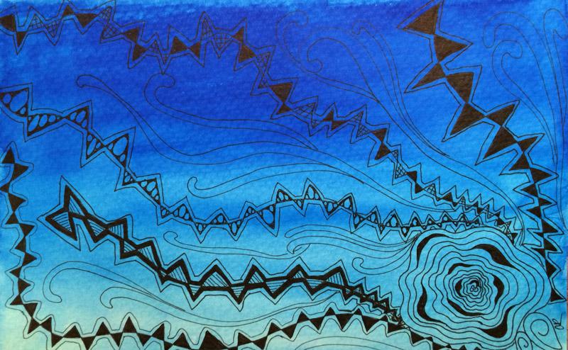 Tangle pattern Rain