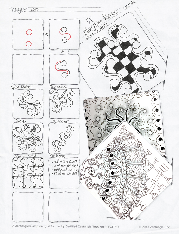 Zentangle pattern - So